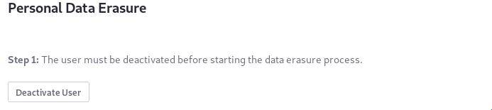 図2:ユーザーを非アクティブ化すると、データ消去プロセスが開始されます。
