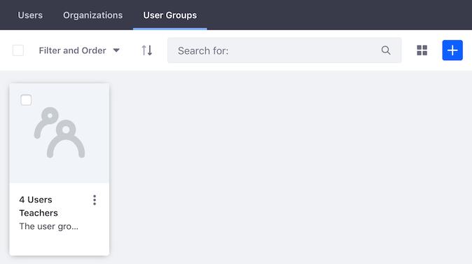 図2:サイトメンバーシップのユーザーグループタブには、現在サイトに割り当てられているユーザーグループが表示されます。