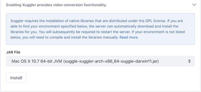 図2:Xugglerをインストールします。
