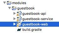 Figure 1: After you move it using the Refactor function, all of your modules are in the same folder..