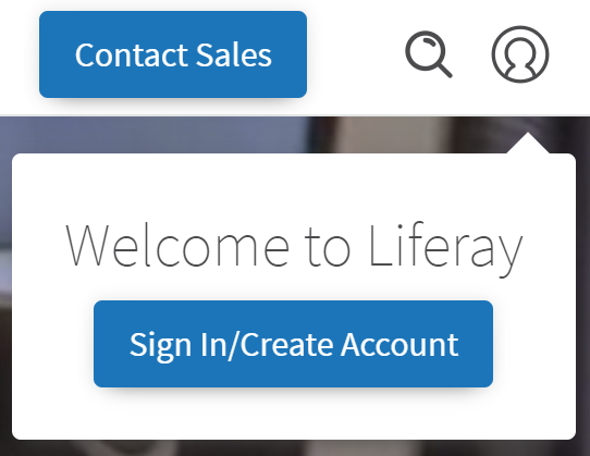 Figure 1: Hover over the Profile button and click Sign In/Create Account.
