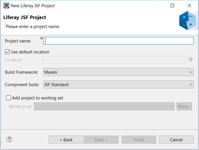 図2:JSFプロジェクトに適したオプションを選択します。