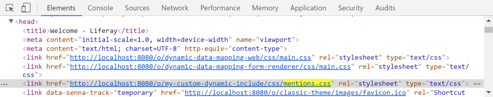 Figure 1: The top_head pre key loads additional CSS and HTML resources in the head of the theme.