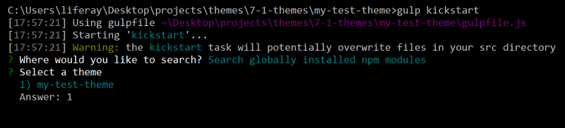 Figure 2: You can copy files from  globally installed themes.