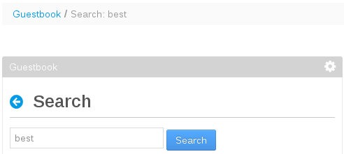 Figure 2: You can customize the portlet breadcrumb so that it displays the search query entered by the user.