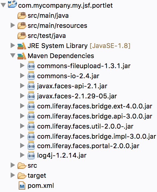Figure 3: Ivy downloads the required JARs for your JSF portlet, depending on the JSF UI Component Suite you selected.