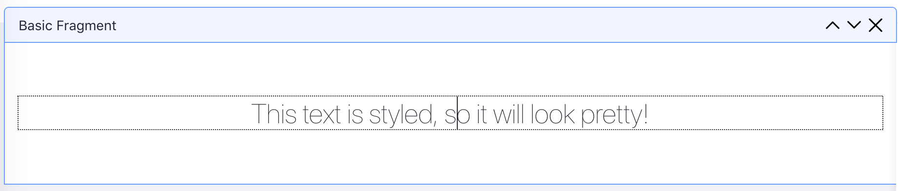Figure 1: You can edit text in the Page Template editor.