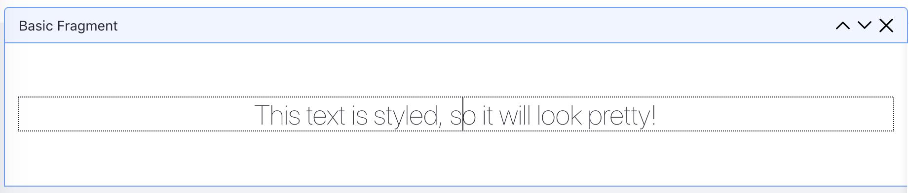 図1:ページテンプレートエディターでテキストを編集できます。