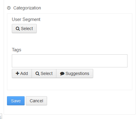 Figure 1: Adding category and tag input options lets authors aggregate and label custom entities.