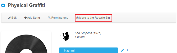 Figure 1: You can easily create a way to move your apps entries to the Recycle Bin.