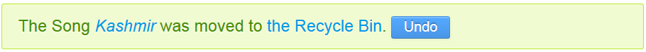 Figure 1: Implementing the Undo button enables users to conveniently retrieve entries back from the Recycle Bin.