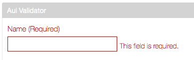 Figure 1: The default error message when a required field is left blank.