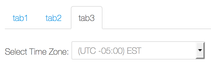 Figure 3: Heres an example of what a tab could look like referencing useful content like this time zone selector.