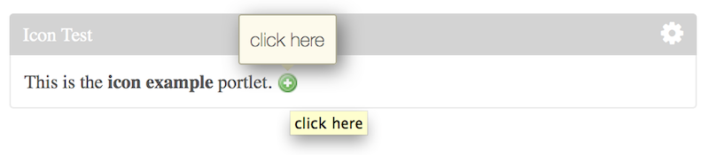 Figure 3: Heres what the add icon looks like with the changes above when hovered over.