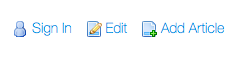 Figure 2: An icon list with three icons.
