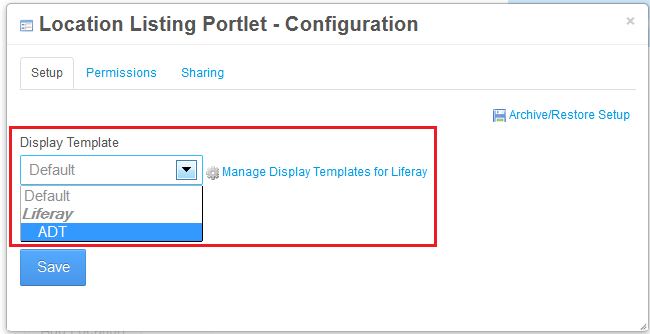 Figure 1: By using a custom display template, your portlets display can be customized.