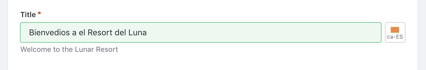 Figure 1: Adding a translation to an article works like adding the default translation.