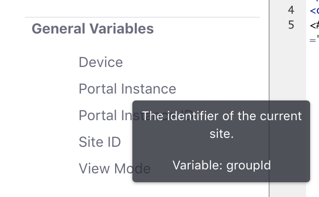 Figure 1: You can hover your pointer over a variable for a more detailed description.