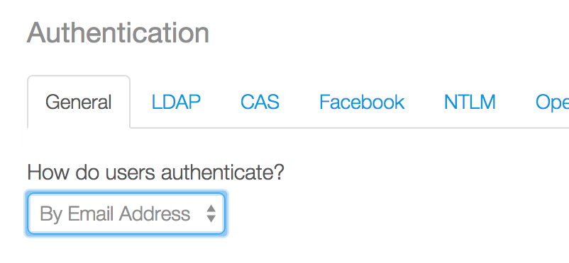 Setting the authentication method in Liferay Portal.