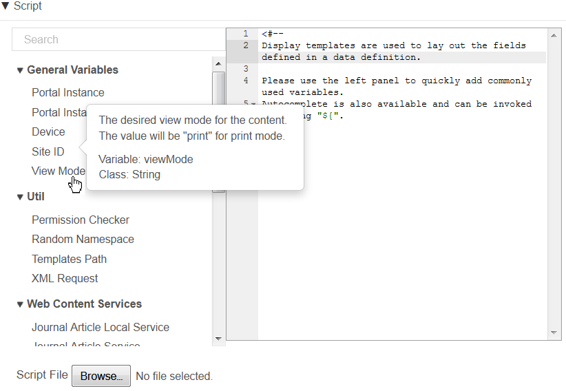Figure 3.6: You can hover your pointer over a variable for a more detailed description.