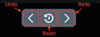 Figure 5: The history bar lets you undo, redo, and reset changes.
