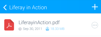 図2:ダウンロードしたファイルのサイズが青でリストに表示されます。