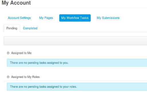 Figure 12.5: My Workflow Tasks Page
