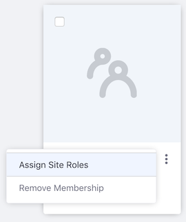 Figure 2: Select Assign Site Roles for the user group.