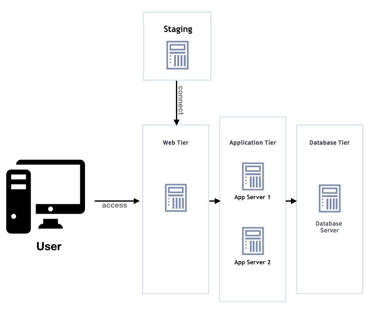 Figure 1: This is the assumed setup for your clustered environment.