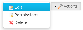 Figure 1: A common Liferay user interface element is the action button.