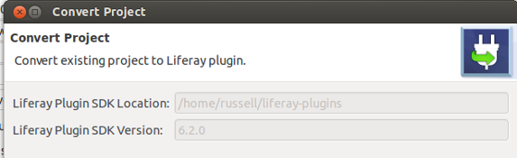 Figure 1: The Convert Project wizard detects your Plugins SDKs the location and version.