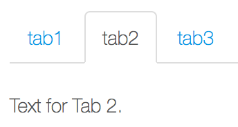 Figure 2: Placing content inside sections allows you to associate it with individual tabs.