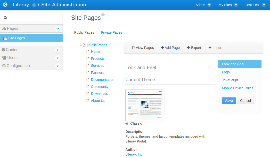 Figure 1: Here is a site displaying English content left-to-right.