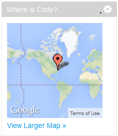 Figure 10.6: The Map portlet can be placed on a single users page to display one location or on the main site page to display all users location.