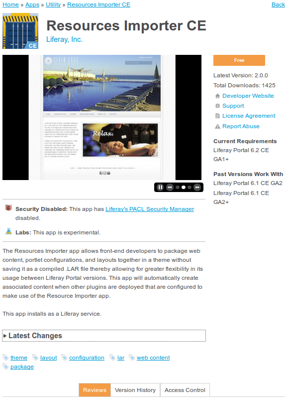 Figure 15.11: Click on an app to read a description and view additional details.