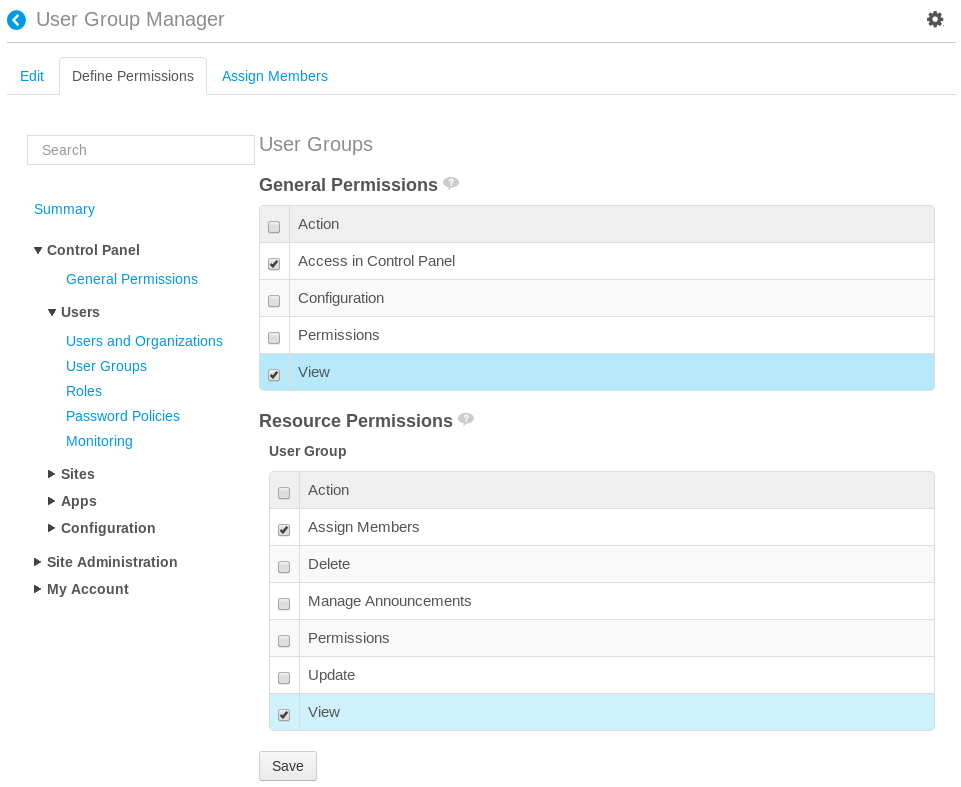 Figure 16.12: Make sure to test the permissions you grant to custom roles.