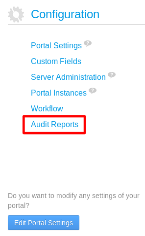 Figure 16.14: Once the Audit EE app has been installed, an Audit Reports entry appears in the Control Panel.