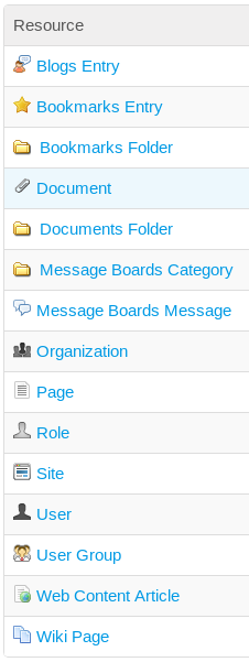 Figure 17.6: You can add custom fields to these portal resources.