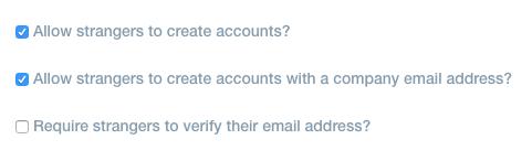 The Liferay instances authentication settings.