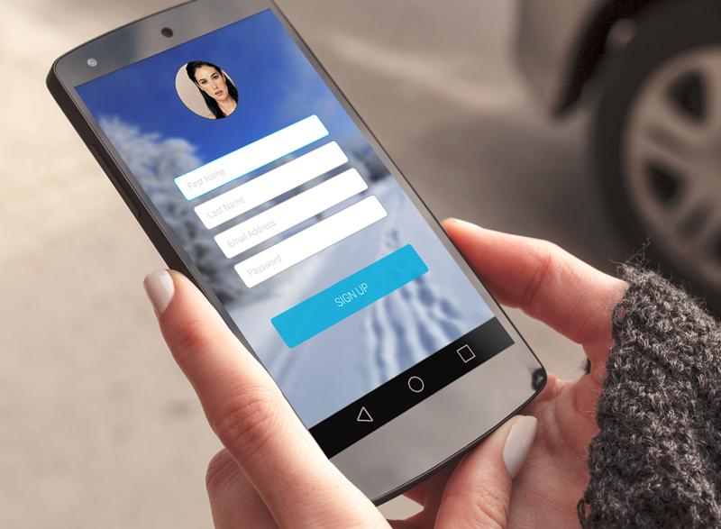 図1:Liferay Screensサインアップスクリーンレットを使用するアプリです。
