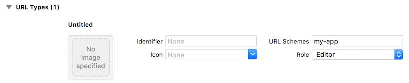 図2:iOSアプリにリダイレクトURLを登録します。