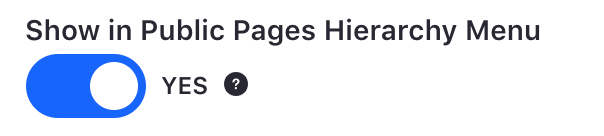 Figure 2: When you create a page, by default it is added to the site hierarchy.