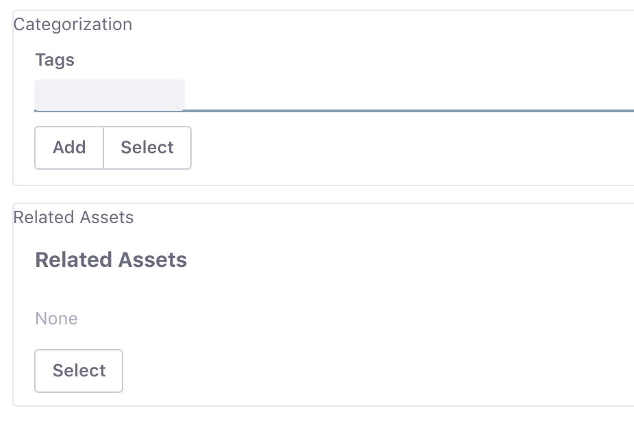 Figure 1: Once youve updated your Guestbook Admin portlets edit_guestbook.jsp page, youll see forms for adding tags and selecting related assets.