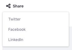 Figure 1: The default social bookmarks appear in a menu below content.