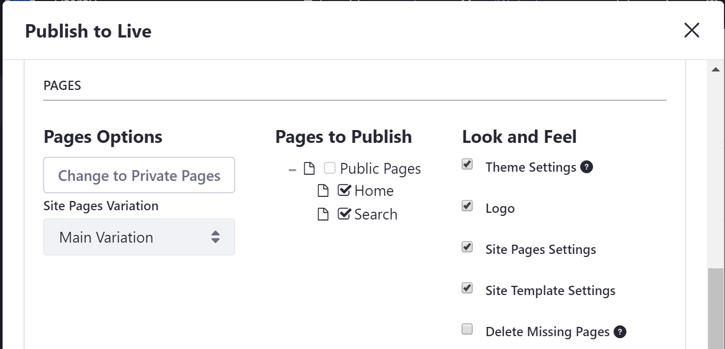 Figure 1: You have several ways to specify the pages you want included in your publication.