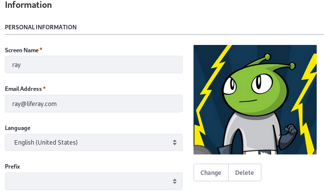 Figure 1: Upload images for user avatars in the Edit User form.