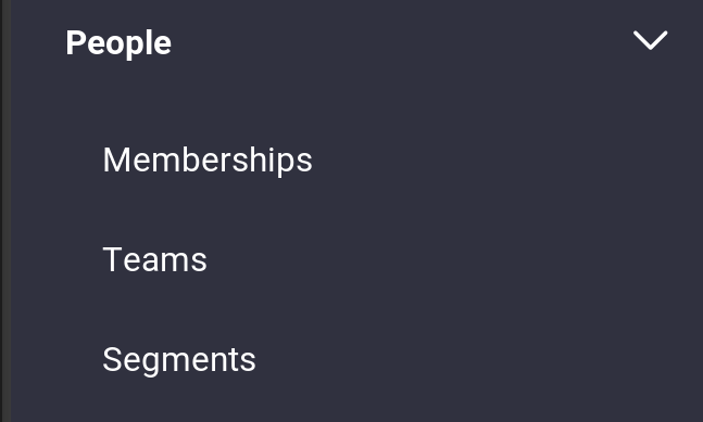 Figure 1: Select Memberships from the Site Administration menu.