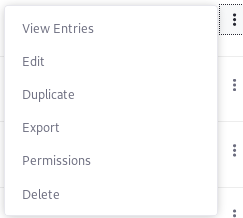 Figure 1: The Duplicate option works the same for forms and form fields.