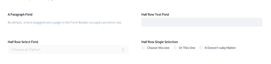 Figure 2: Putting form fields in multiple columns can give you more space.