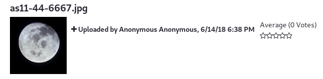 Figure 1: Anonymized content is presented with the User Anonymous Anonymouss identifying information.